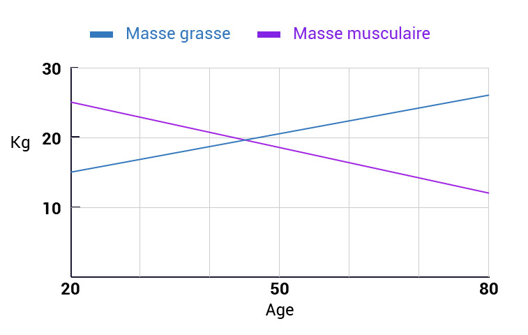 evolution masse musculaire age